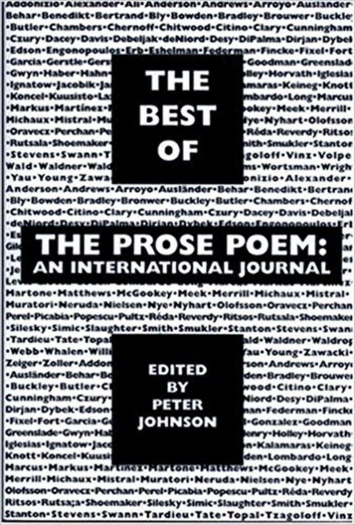 The Official Web Site of Peter Johnson — The Best of The Prose Poem: An International Journal